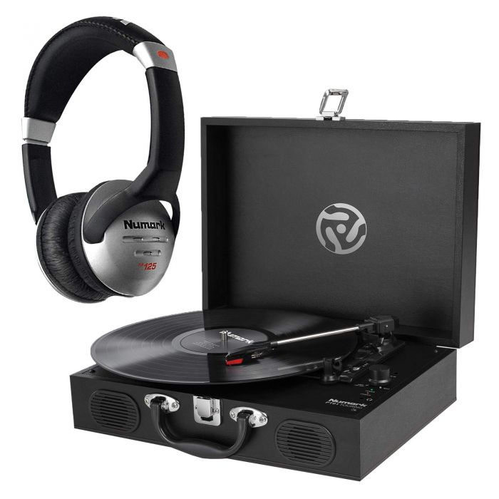 Numark PT01 Touring Classically-styled Suitcase Turntable