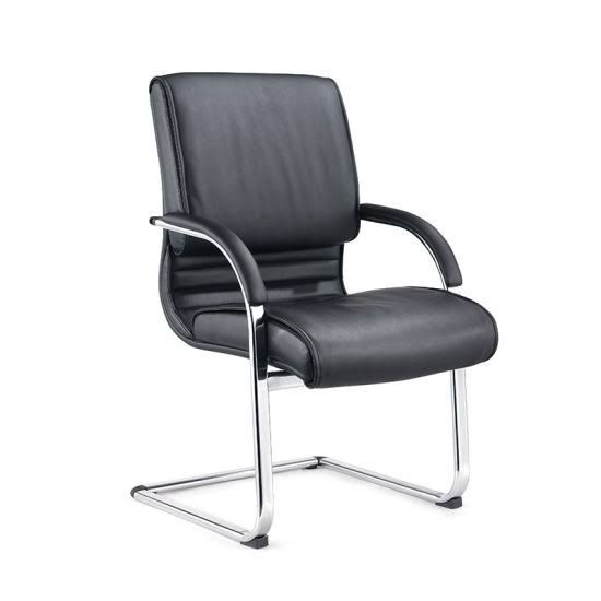 Leather chair visitor PU 1649-V