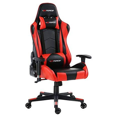 Racing leather chair red black - OP1638