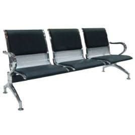 Link chair metal padded 3-seater