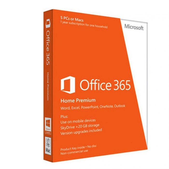 Microsoft Office 365 Home- 1 Year Subscription