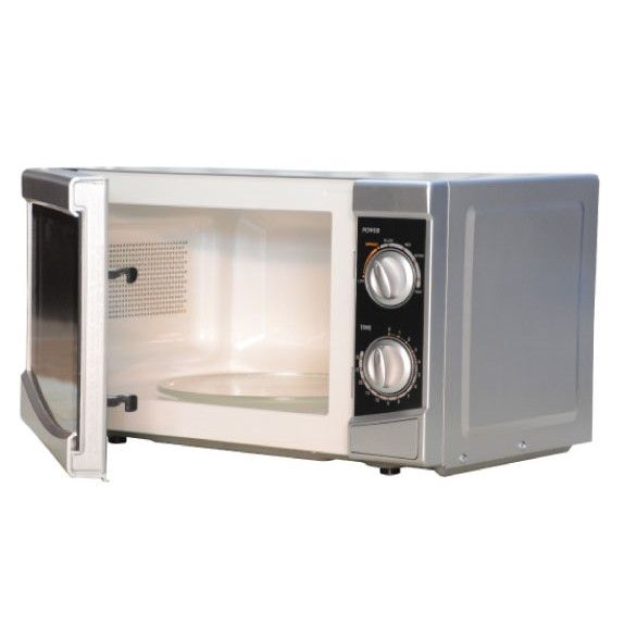 Mika 20 Litres silver Microwave- Manual