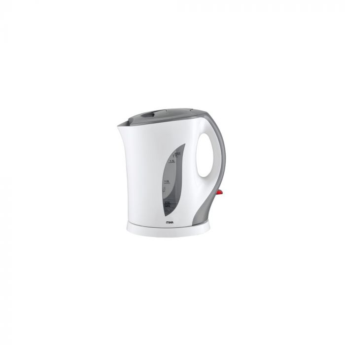 Mika MKT1103 Cordless Kettle (Electric) 1.7L Plastic Body-White & Grey