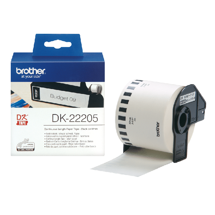 Brother DK-22205 Continuous Paper Label Roll-62mm