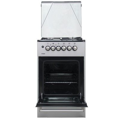 Mika MST50PU31SL 50cmx50cm 3 Gas 1Electric with Electric Oven Cooker-Silver
