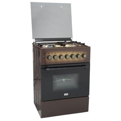 Mika MST6031TLB Standing Cooker 58cm X 58cm 3+1 Electric Oven- Light Brown