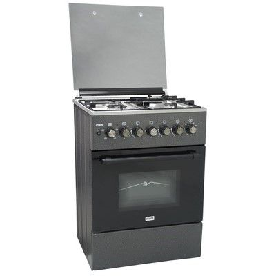 Mika MST6031DS Standing Cooker 58cm X 58cm 3+1 Electric Oven- Silver