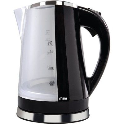 Mika MKT1304 360º Swivel Cordless Kettle (Electric) 1.7L-pair with Toaster MTS2304