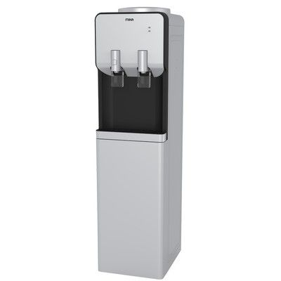 Mika MWD2302/SBL Free Standing Hot & Electric Cooling Dispenser-Silver & Black