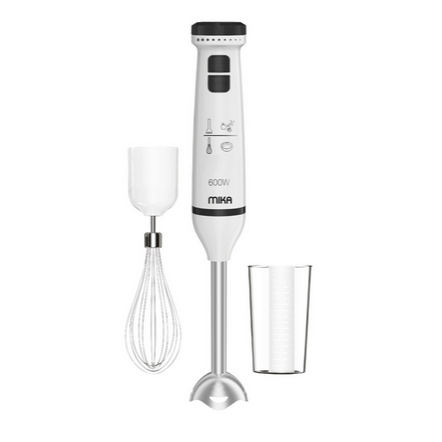 Mika MHB303 Hand Blender 600W Plastic Body & SS Rod With Whisk & Cup