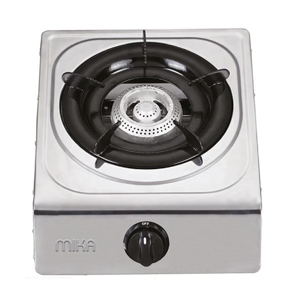 Mika MGS2101 Gas Stove Table Top Stainless Steel Mirror Finish Body HONEYCOMB BURNER