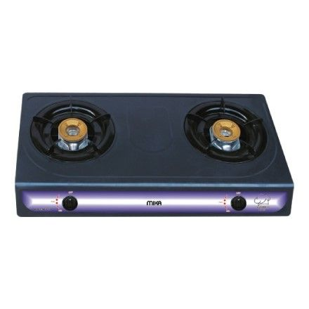 Mika MGS1102 Gas Stove Table Top Non-Stick 2 HONEY COMB BURNERS (Dble 94mm/34mm)